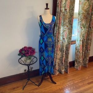 Daisy Fuentes patterned lightweight maxi dress